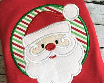 Santa Applique - Christmas Applique - Holiday Applique - Santa Embroidery - Christmas Embroidery - Applique Design - Embroidery Design