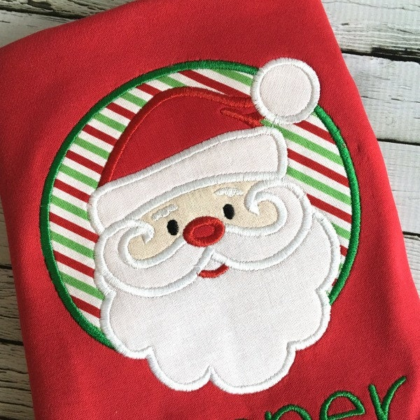 Santa applique christmas holiday