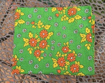 Vintage Orange and Green Pillowcase