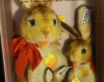 Steiff Rabbits Set of 3 Collectors Edition 1983