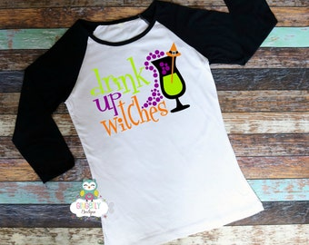 Drink up Witches Shirt, Boo Tribe Shirt, Halloween Shirt, Women's Halloween Shirt, Heat Pressed Vinyl Shirt