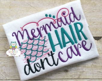 Mermaid Hair Don't Care Shirt or Bodysuit,Mermaid Shirt, I Love Mermaids, Mermaid Tail, Mermaid Hair, Miss Mermaid