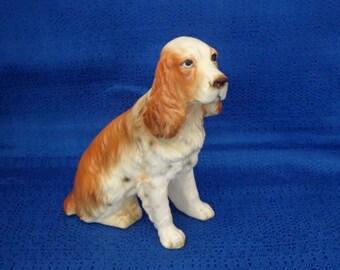 Sale Vintage Springer Spaniel Statue,Springer Spaniel Figurine,Dog Statue,Dog Figurine,Dog Knick Knack,Made in Japan