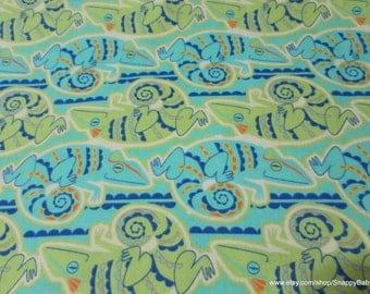 Flannel Fabric - Iguanas - 1 yard - 100% Cotton Flannel