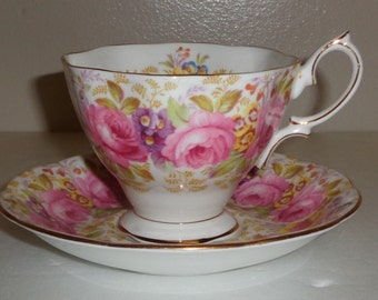 Royal Albert Serena Cup and Saucer  Reg. No. 839329 Bone China Made in England Free Standard Shipping in the U.S.