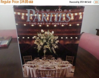 Save 30% Today Vintage 1989 Hardcover Coffee Table Book The Art of Hosting New York Parties Excellent Condition