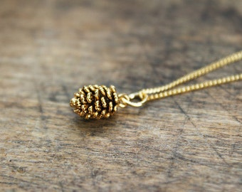 Gilded Fir Cone necklace