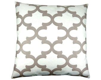 Cushion cover Bob white sand 50 x 50 cm grid beige graphically