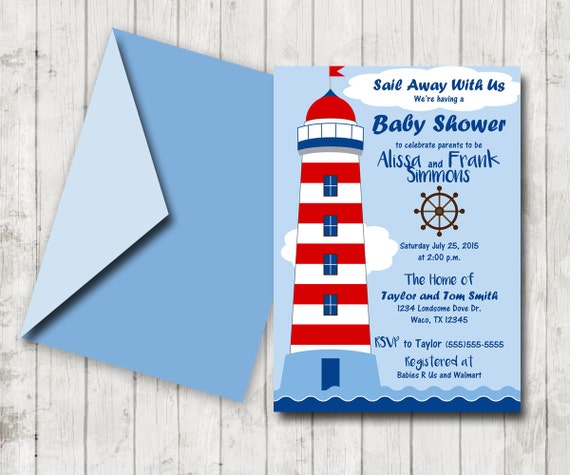 nautical shower invites baby shower nautical theme shower nautical