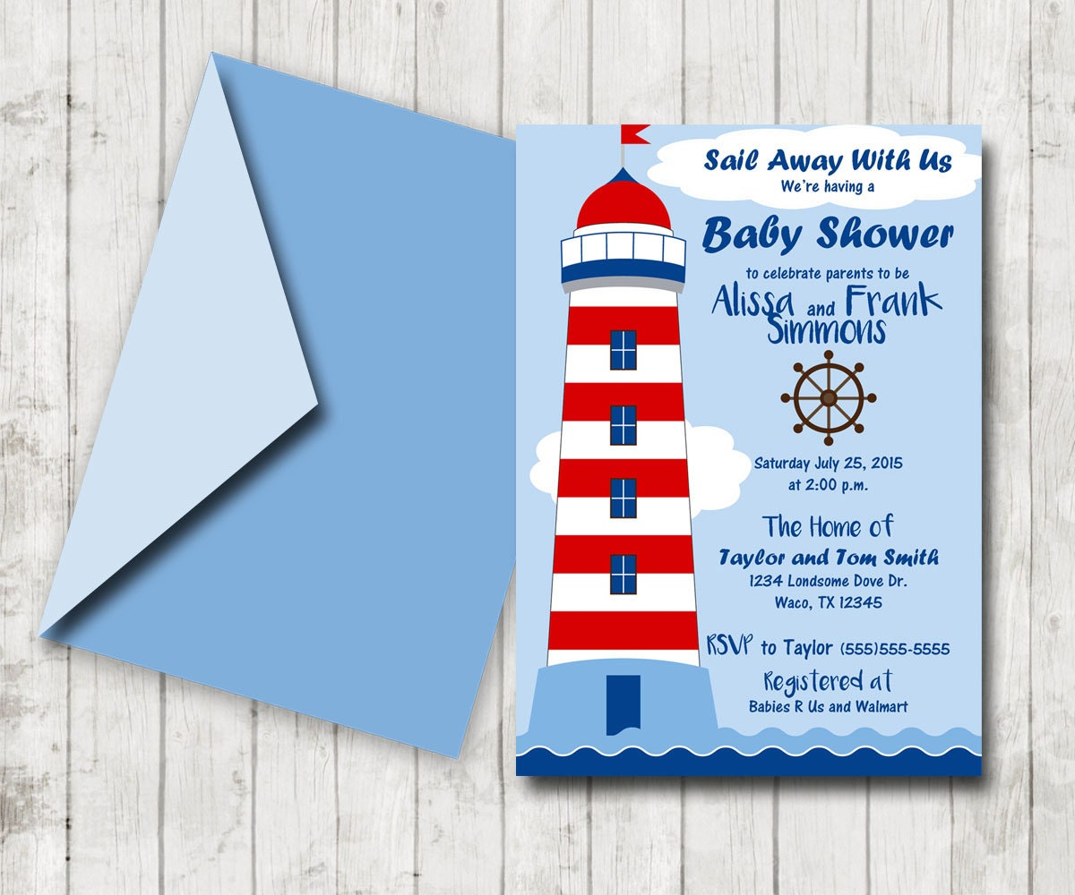 nautical baby shower invitation nautical shower invites baby