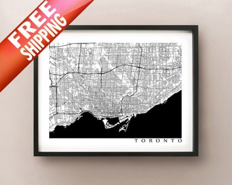 Toronto Map - Black and White