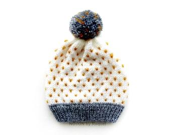 Babys Polka-dots Beanie, Toddler Beanie, Winter Hat