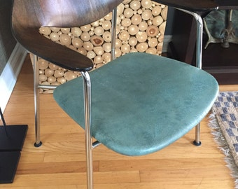 July 4th SALE - FREE Ship - George Mulhauser - Plycraft Chair- 1963