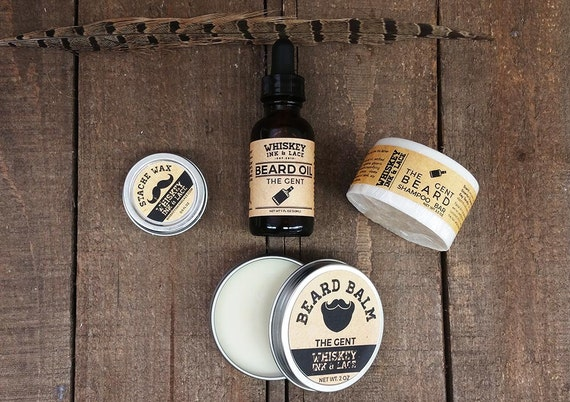 the gent beard kit deluxe whiskey inspired by whiskeyinkandlace. Black Bedroom Furniture Sets. Home Design Ideas