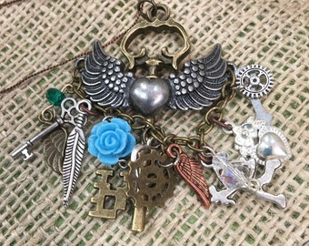 Keys wings and charms