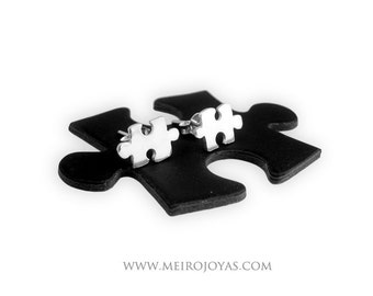 Jigsaw Puzzle Earrings / Pendientes Puzzle