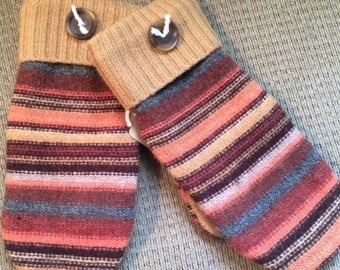 C5    Felted wool mittens lined with fleece size large