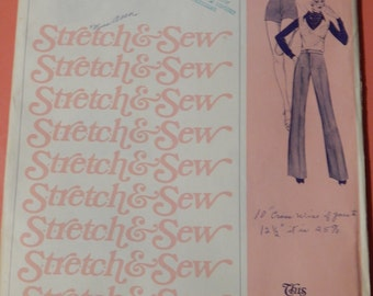 Vintage pants pattern Stretch & Sew 713 London Pants pattern for fabrics with 25% stretch Uncut Hip sizes 32, 34, 36, 38, 40, 42 and 44