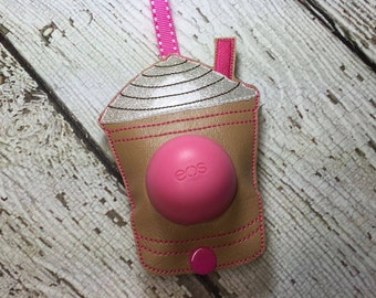 5 x 7 ONLY ITH Coffee - Frap Sphere/Egg Lip Balm Holder - Lip Gloss - Design - DIGITAL Embroidery Design