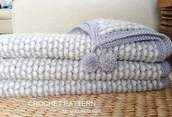 Channel Stitch crochet Blanket pattern NEW STITCH By KJ Designs - Soft ...