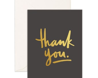 Thank You Gold Greeting Card