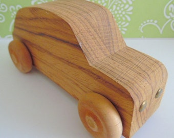 Hand made wooden car/ vehicle.