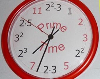 Prime Math Clock