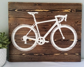 Painted Bike Sign