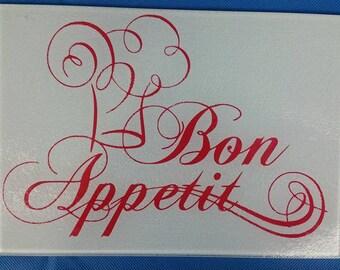 Bon Appetit Glass Cutting Board