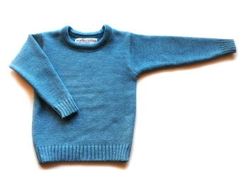 Babies/Children's merino wool crew neck sweater/Tshirt/jumper/pullover/long sleeve top