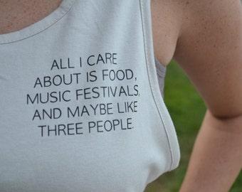 Music festivals tank top