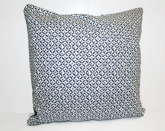 Pottery Barn Fabric Decorative  Blue Swirls 12x16, 16x16, 18x18 Throw Pillow Case Cover