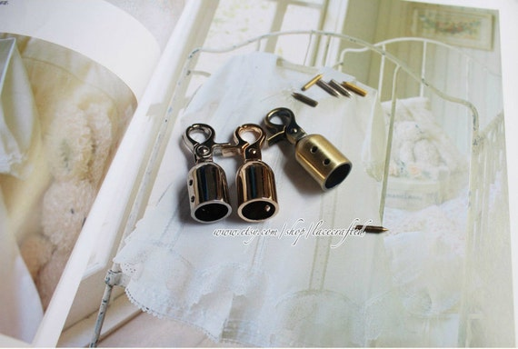 Pcs mm brushed brass silvery golden metal end stopper