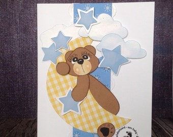 """Baby greeting card """"in the clouds"""""""