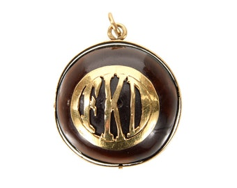 Antique Chinese Pendant with Gold Goat motif