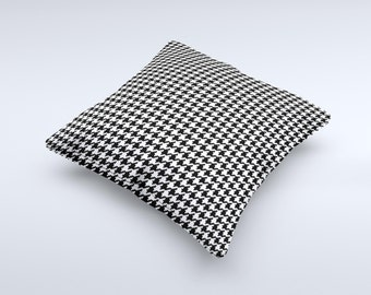 The Classic Houndstoothe ink-Fuzed Decorative Throw Pillow