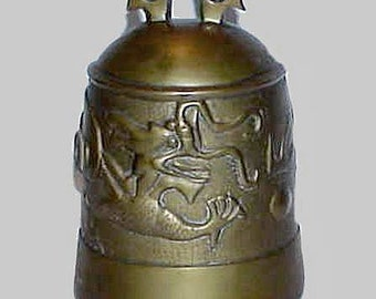 Heavy Large Oriental Gong with Stylized Dragon Year of The DRAGON Temple Bell