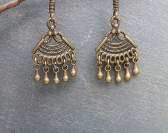 Ethnic Bronze earrings / Hippie