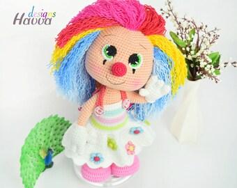 Crochet Pattern - Miss Clown (Amigurumi Doll Pattern)