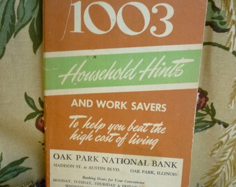 Household Hints  Oak Park National Bank~ Oak Park Illinois~1003 Household Hints,