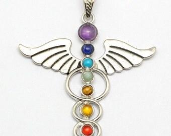 Vintage Chakra Healing Pendant