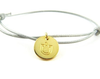 engraved bracelet 013 > free choice of color and desired engraving