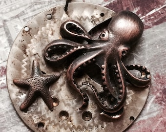 Octopus Steampunk Necklace artisan jewelry