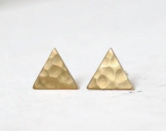 Golden Triangle Ear Studs