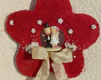 Sisal flower for wedding wreath wreath wall