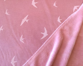 Alpenfleece swallows dusky pink