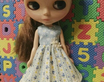 Blythe Doll Outfit Clothing flowers print Dress