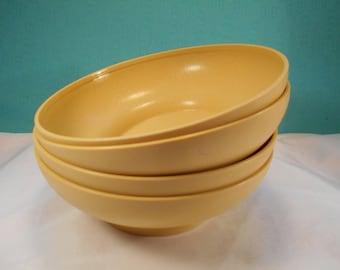 Vintage Tupperware Bowls #890-34, Set of Four - Tupperware Salad/Cereal Bowls