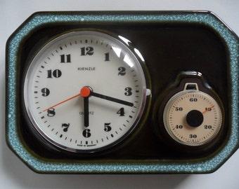 German Kienzle ceramic kitchen wall clock,kitchen clock,ceramic wall clock,Vintage kitchen clock,wall clock