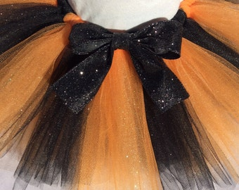 halloween tutu, halloween glitter tutu, orange black tutu, glitter tutu, baby halloween tutu, black tutu, orange tutu, baby tutu, halloween